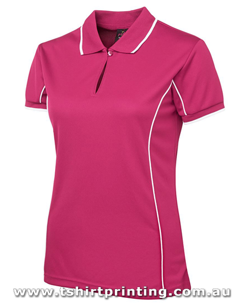 P72W Ladies Johnny Bobbin Piping Polo